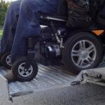 wheelchair on lift